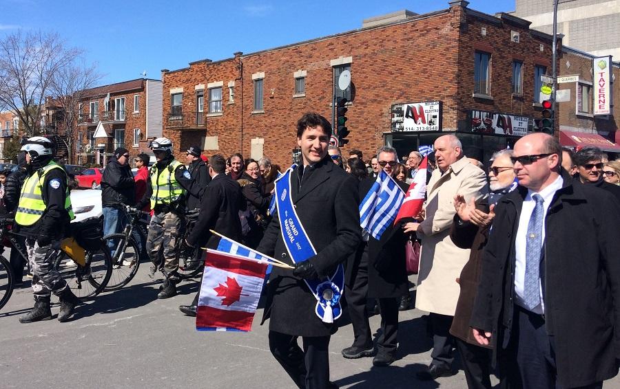 """Μόντρεαλ: """"Ζήτω η Ελλάς"""" φώναζε επί δέκα λεπτά ο Καναδός πρωθυπουργός- Μεγαλειώδης παρέλαση"""