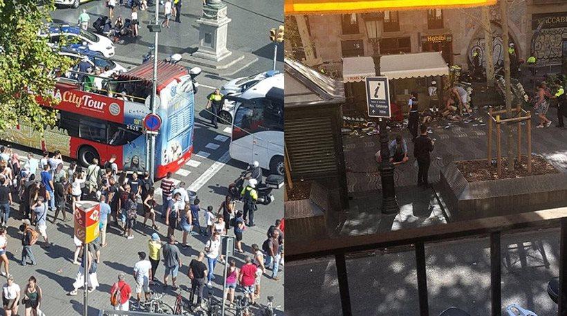 Διπλή τρομοκρατική επίθεση στη Βαρκελώνη: Βαν έπεσε πάνω σε πλήθος – Ομηρία σε εστιατόριο