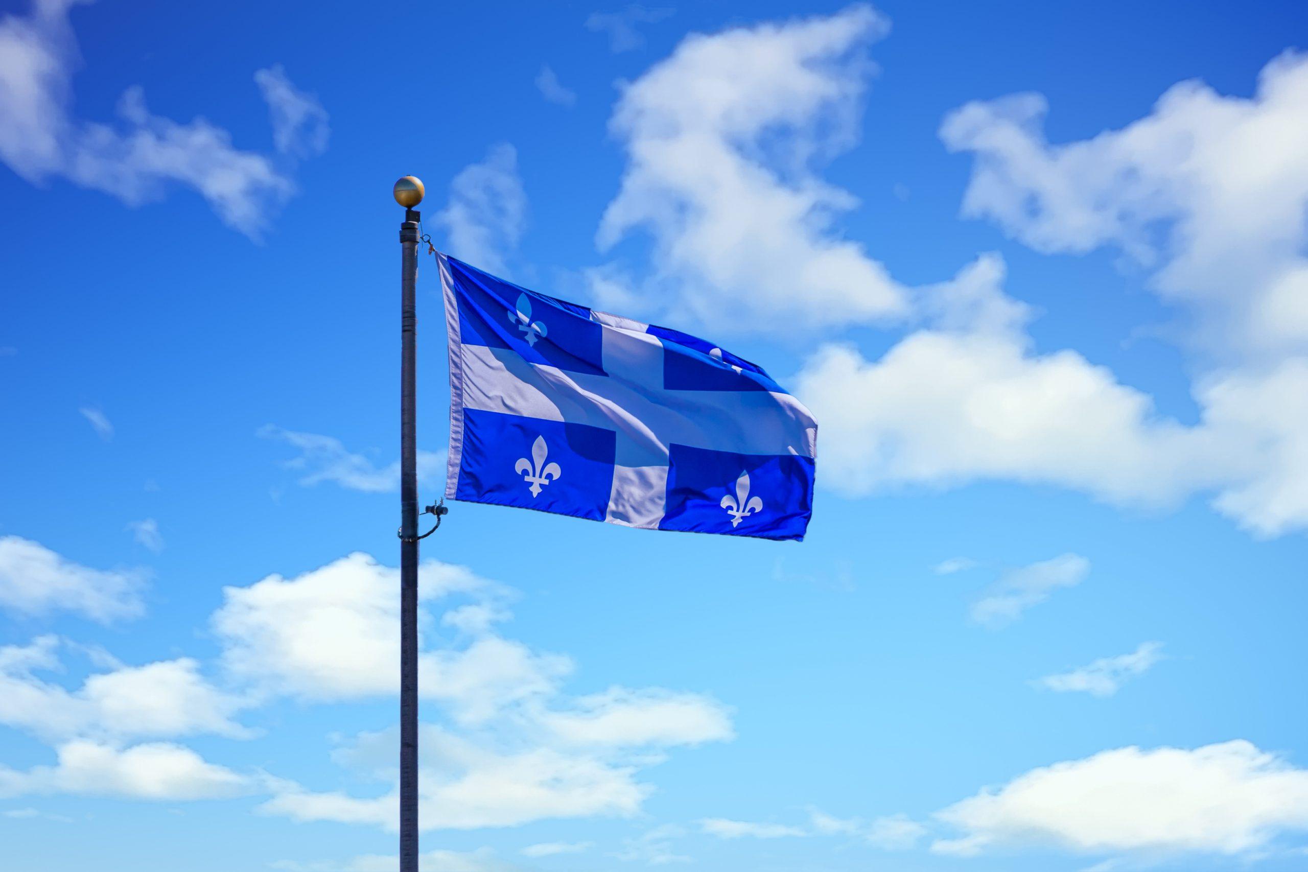 Quebec Flag on Sky